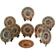 """REDUCED Wonderful Set of 9 French LIMOGES 10"""" Dinner Plates  ~ All Artist Signed  ~ ..."""