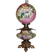 OUTSTANDING LARGE Jumbo Gone with the Wind Banquet Oil Lamp ~Masterpiece Breathtaking BEAUTY .