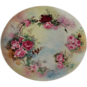 Truly Magnificent LARGE Antique Limoges France  Charger Tray ~ Breathtaking Hand Painted Roses