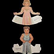 Whitman Dolls That Walk Vintage 1939 Cut Paper Dolls