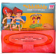Whitman Whirlikids Carousel Action Paper Dolls Complete Mint in Original Unopened Box Vintage
