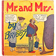 SOLD Mr. and Mrs. By Briggs Cartoon Book Copyright 1922 Whitman Publishing