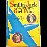 Smilin' Jack and the Daredevil Girl Pilot, Whitman Book Copyright 1942