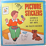 SOLD My Picture Stickers Unused Whitman In Original Box Vintage 1930s