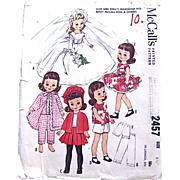 Betsy McCall Doll Clothes Pattern, McCall's 2457 Vintage 1960 Size 8-1/2 Inch, Complete ...