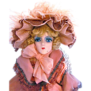 SOLD Reserved Lay-Away Purchase for Genny Sterling Boudoir Doll Composition and Cloth Doll Vin