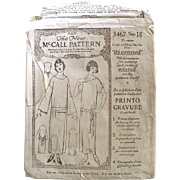 Early Printed Sewing Pattern, The New McCall 3467, Women's Slip On Dress, Size 16 ...