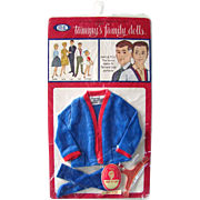 Tammy's Dad, Doll Clothes, Cardigan Sweater, Mint in Package, Vintage 1963, Tammy Family, ...