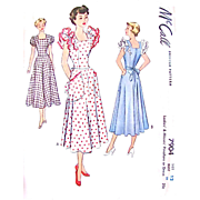 Misses Pinafore, Dress, Apron Pattern, McCall 7904, Uncut and Factory Folded, Vintage 1949, ..