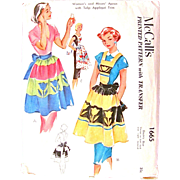 Misses Apron with Tulip Applique, Vintage 1951 Sewing Pattern, McCall's 1665, Uncut Factory ..