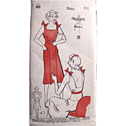 1930s Pattern, Dress Jumper With Blouse, New York No. 40 Girls and Juniors Size 12 ...