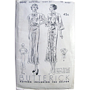 Misses Dress, Frock Pattern, Butterick Deltor Pattern 6642, Size 20, Bust 38, Factory Folded,