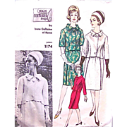 Vogue Couturier Design Pattern 1174, Irene Galitzine of Rome, Misses Suit, Fitted Jacket, ...