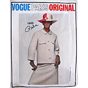 Vogue Paris Original Sewing Pattern1653.  Women's Suit Pattern, Designer Gres, Misses Size 1