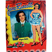 Jane Russell Paper Dolls, Uncut, Original Vintage 1955, Saalfield Movie Star Dolls with ...