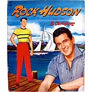 Rock Hudson Paper Dolls, Uncut, Original Vintage 1957, Whitman Movie Star Dolls, Hollywood ...