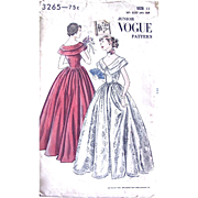 Junior Vogue 3265 Sewing Pattern, Formal Dress, Evening Gown, Size 11, Bust 30-1/2 ...