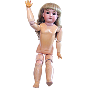 Kestner Open-mouthed Child Doll on Stamped Composition Ball Jointed Body, 24 Inch, Vintage 19