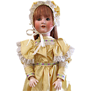 "24"" Schoenau Hoffmeister Antique German Bisque Socket Head Doll Circa 1909 Redressed"