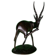 Signed African Superbly Carved Wood Antelope