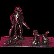 REDUCED Antique European Miniature Silver Multi-Figural Sculpture