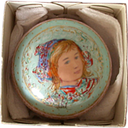REDUCED Edna Hibel Paperweight, Signed and Numbered Limited Edition,