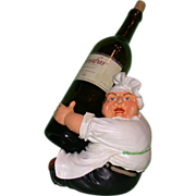REDUCED Whimsical Vintage Chef Bottle Holder