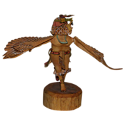 REDUCED Incredible Hand-Carved Hand-Painted Eagle Dancer, Signed, with a Wing Span of over ...
