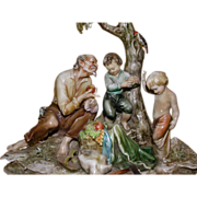 """SOLD Very Early Borsato - """"Orchardist"""" - Multi Figural Group, Exquisite Detail ; Sig"""