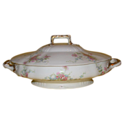 REDUCED Exquisite Theodore Haviland Limoges Covered Vegetable Dish, c 1903-1925