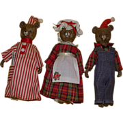 REDUCED Adorable Vintage Three Piece Bear Family!