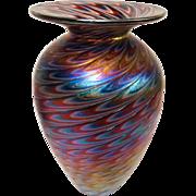 Exquisite Signed Art Glass Vase