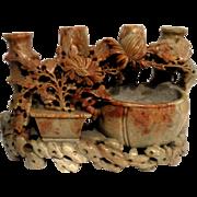 Carved Stone Bud Vase (Or Candelabra)