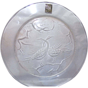 """REDUCED The First and Rarest!  1965 Lalique Annual Plate """"Deux Oiseaux"""""""