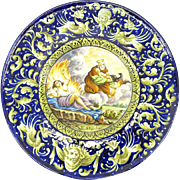 REDUCED Large 20th Century Italian Majolica Charger