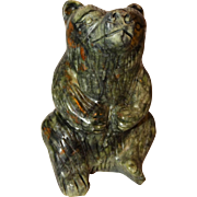 REDUCED Chinese Large Hand-Carved Hardstone Bear Paperweight