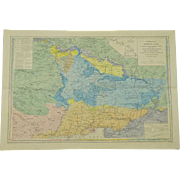 "REDUCED 19th Century Map Of Crimea, c 1854, Russian edition, from the ""Scientific Expedit"