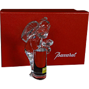 REDUCED BACCARAT Crystal Angel/Cherub With Flowers, With Original Box