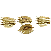 REDUCED Twelve (12) Limoges Gilt Hand Painted Nut Dishes.