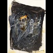 """Self Portrait""  Secessionist - Signed Mixed Media"