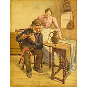 "FREDERICK McNAMARA EVANS, (British 1859 - 1929) ""The Rehearsal"" Signed and Dated 190"