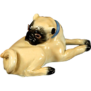 MEISSEN - Pug Dog Porcelain, Signed