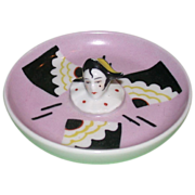 REDUCED Henri Delcourt, Boulogne-Sur-Mer, France, Ring Tray With Pierrot Head