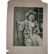 """Marvelous Antique Print of Miss Ada Rehan as Lady Teazle in """"The School For Scandal"""""""