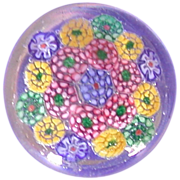 REDUCED Lift Your Spirits With This Delightful And Colorful Millefiori Art Glass Paperweight!