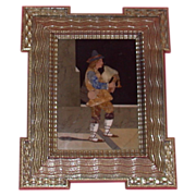 REDUCED Pietra Dura - Fine Rendition of Man Playing Bagpipes,  Italian, Early 20th Century