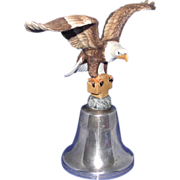 REDUCED Limited Edition Eagle Club - 1984 - Bell With Eagle -Biblical Inscription - by Gorham