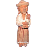 REDUCED Folk Art Whistle From Guatemala - Mother And Child