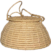Small Spaced Coiled Covered Basket