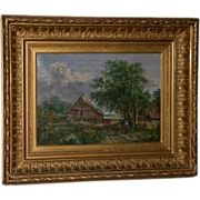 "SOLD Original 19th Century Oil, Landscape, signed ""W. Armons, 1883"""